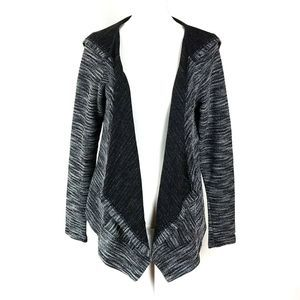 Maurices Hooded Marbled Cardigan Open Sweater